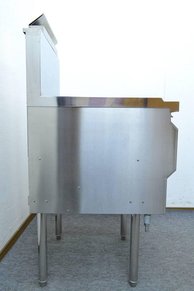 g735■コメットカトウ■1槽ガスフライヤー 都市ガス■CF2-GA18-L16■2018年製■外寸 約幅450×奥行き600×高さ800mm(全高 1125mm)_画像4