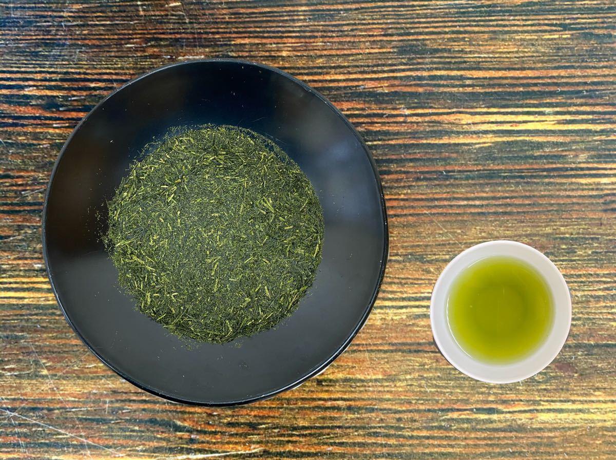 【200g×3袋入】田舎仕立て煎茶 特級品 高級茶の茎や粉が入った荒づくりのお買い得煎茶!_さえみどり品種を主原料に使用しました。