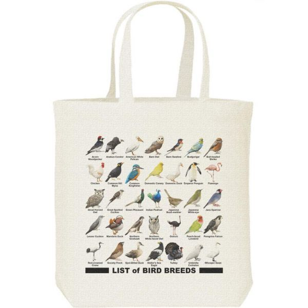 鳥のリスト/キャンバスバッグ M・新品・メール便 送料無料_鳥のリスト/キャンバスバッグ・M