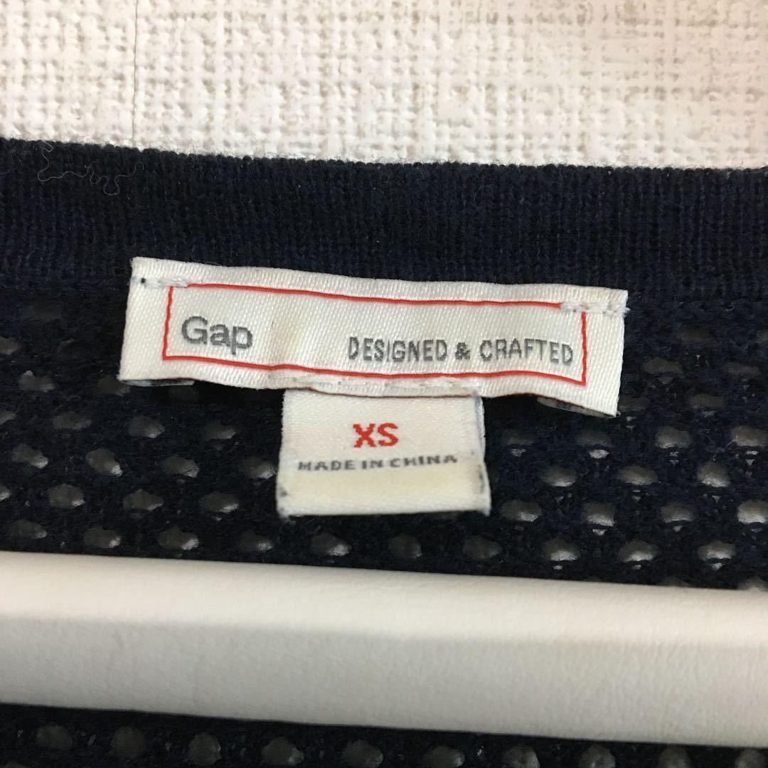 【限定値下げ】 ギャップ 綿100 メッシュニット サマーニット xs 水着 日除け 長袖 カットソー トップス