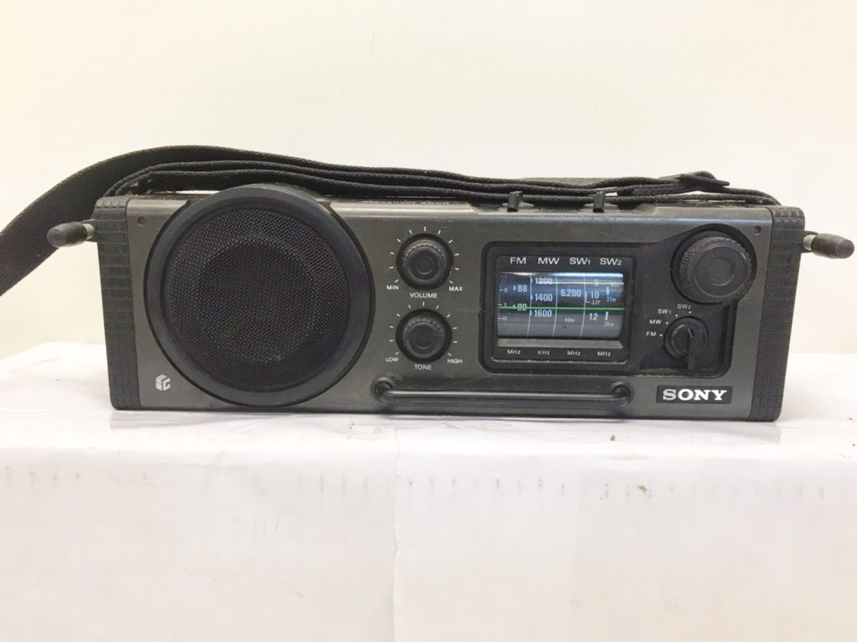 SONY ソニー スカイセンサー アウトドア設計防滴 耐ショックラジオ ICF-6000 A-20052030 【ジャンク】