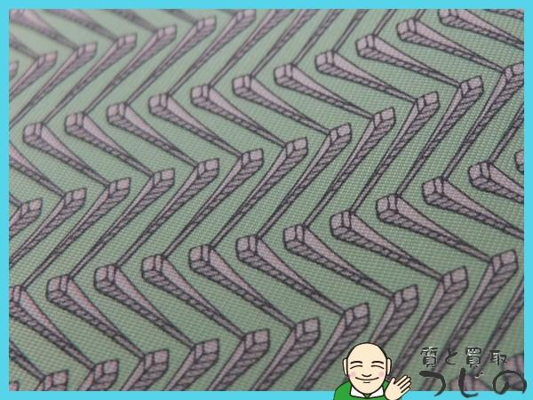 送料無料 エルメス ネクタイ 幾何学模様 シルク100% HERMESクリックポスト 質屋 神戸つじの_画像9