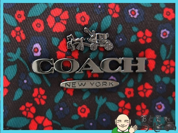 送料無料 コーチ リュック ランチフローラル F59434 COACH 美品 質屋 神戸つじの_画像8