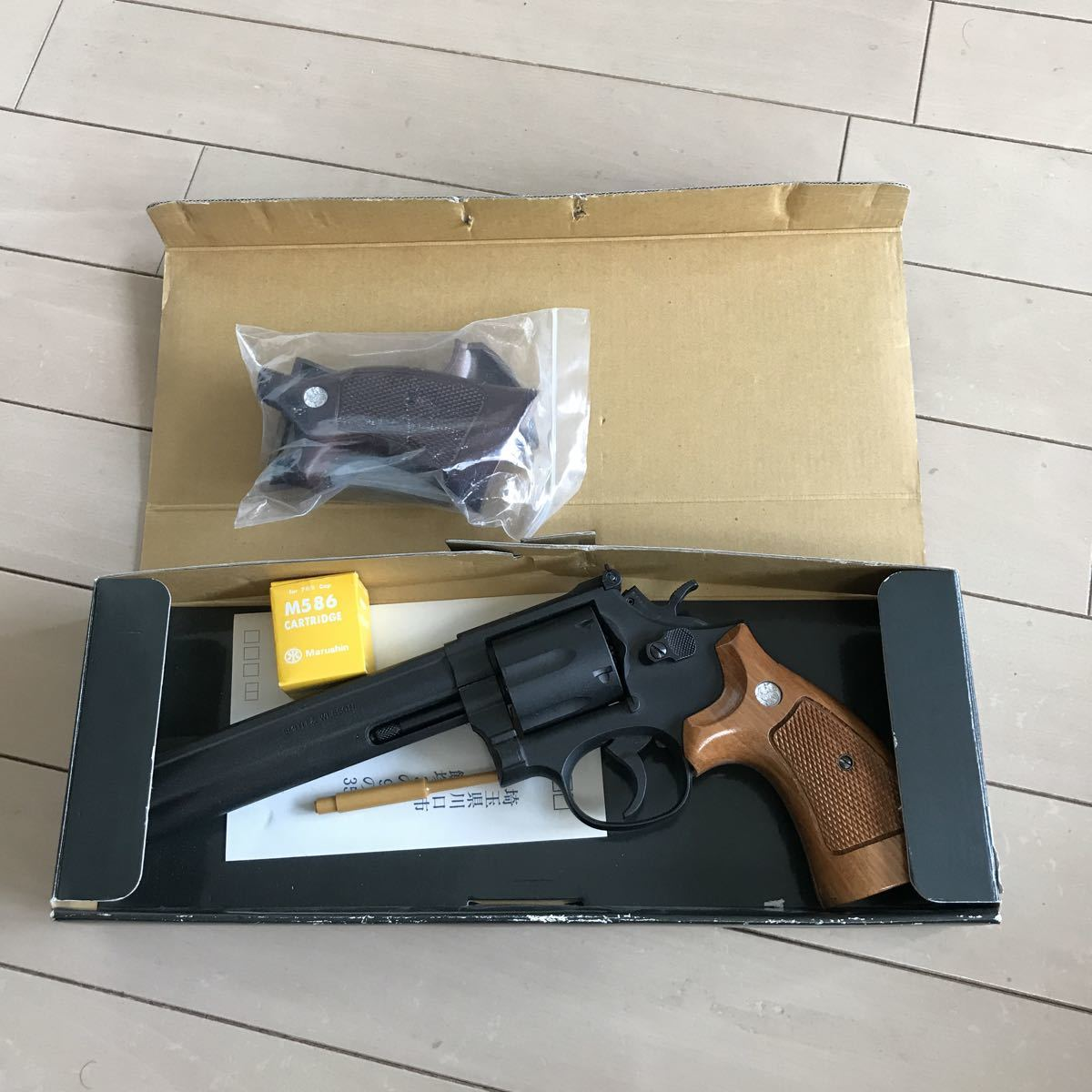 SMITH&WESSON 586 HEAVY weight iron finish 6inchマルシン _画像7