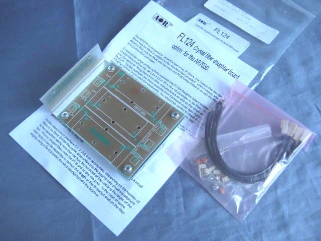 BCL 新品 AOR エーオーアール FL124 クリスタルフィルター用基板キット 製造終了品 レアモノ AR7030/AR7030PLUSオプション品 平成令和