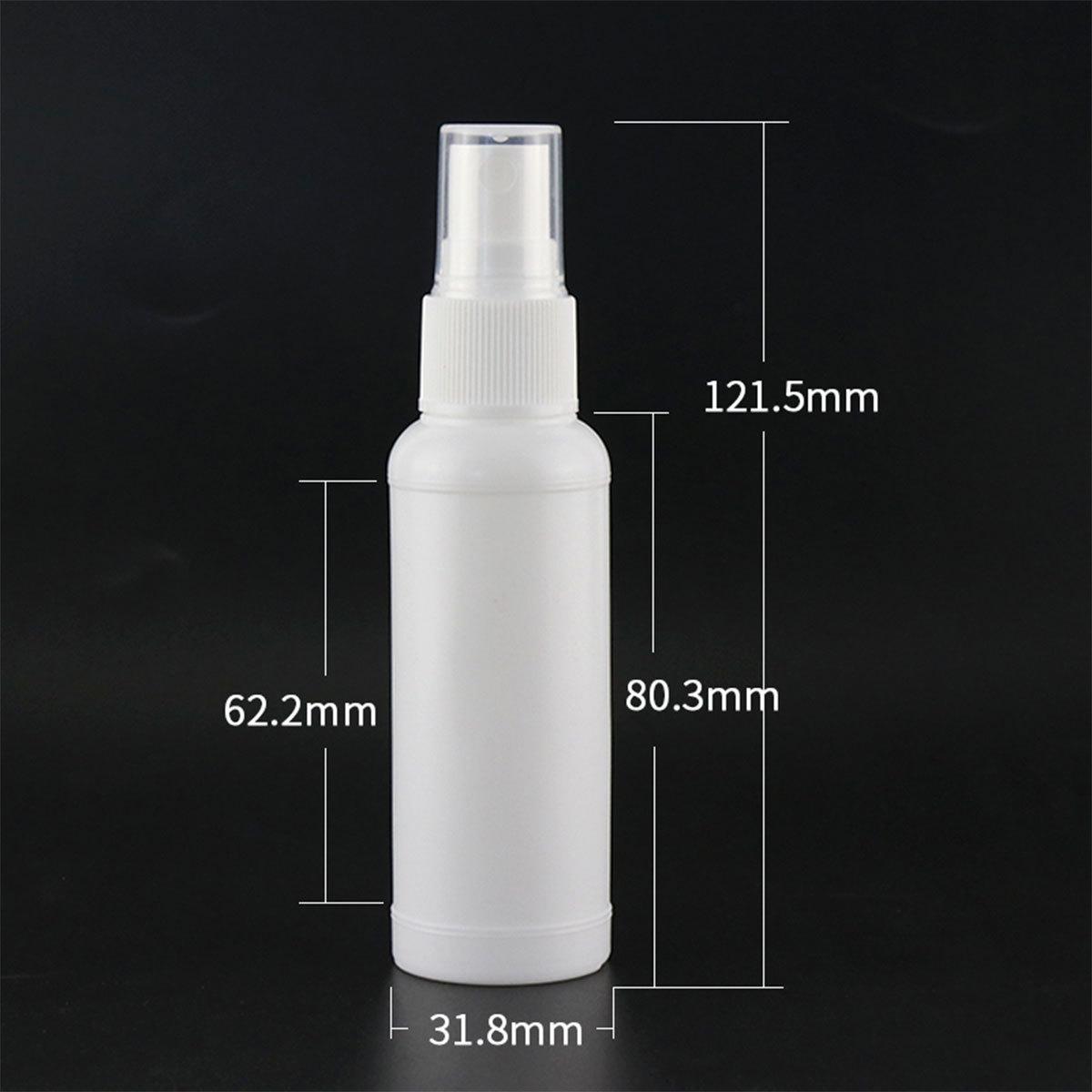 スプレーボトル 容器 50ml 100個セット 国内検品済 本体部分PPで アルコール対応 遮光 次亜塩素酸水にも使用可能 空容器 携帯用_画像2