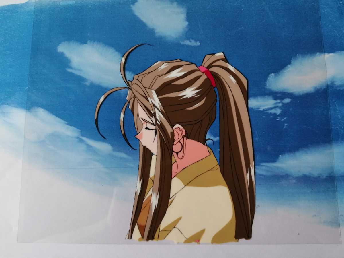 【セル画】 ああっ女神さまっ ベルダンディー セル画、コピー背景付、_画像2