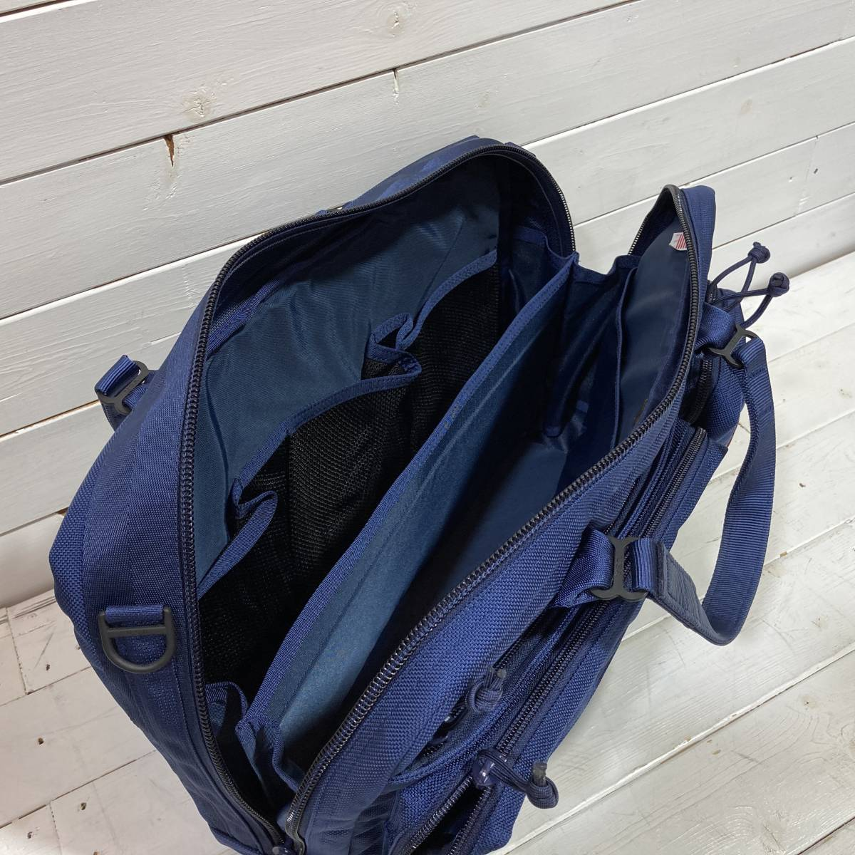 BRIEFING × BEAMS PLUS ブリーフィング × ビームス 別注 AIR FORCE BLUE LINE NEO B4 LINER ショルダーバッグ ブリーフケース A2-2127_画像6