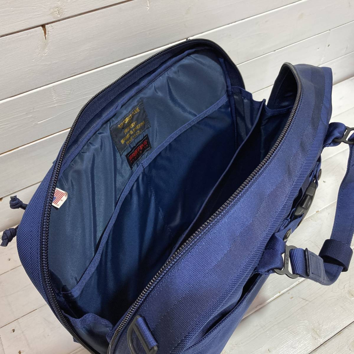 BRIEFING × BEAMS PLUS ブリーフィング × ビームス 別注 AIR FORCE BLUE LINE NEO B4 LINER ショルダーバッグ ブリーフケース A2-2127_画像7