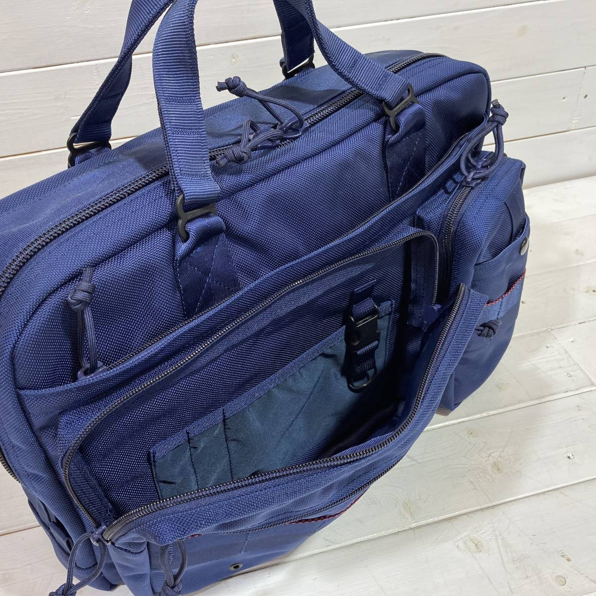 BRIEFING × BEAMS PLUS ブリーフィング × ビームス 別注 AIR FORCE BLUE LINE NEO B4 LINER ショルダーバッグ ブリーフケース A2-2127_画像4
