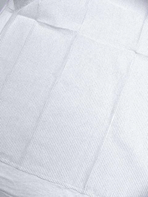 少し透ける 綿・麻 変り織生地 織の男ゆかた LLサイズ 白・グレー縞 新品_画像2