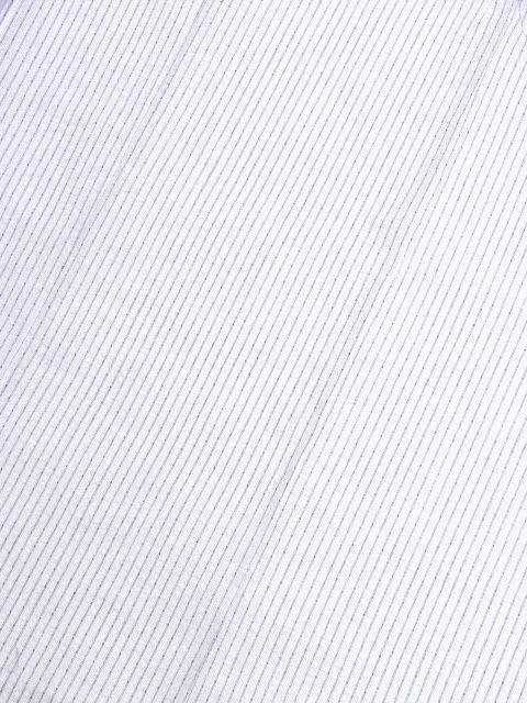 少し透ける 綿・麻 変り織生地 織の男ゆかた LLサイズ 白・グレー縞 新品_画像3