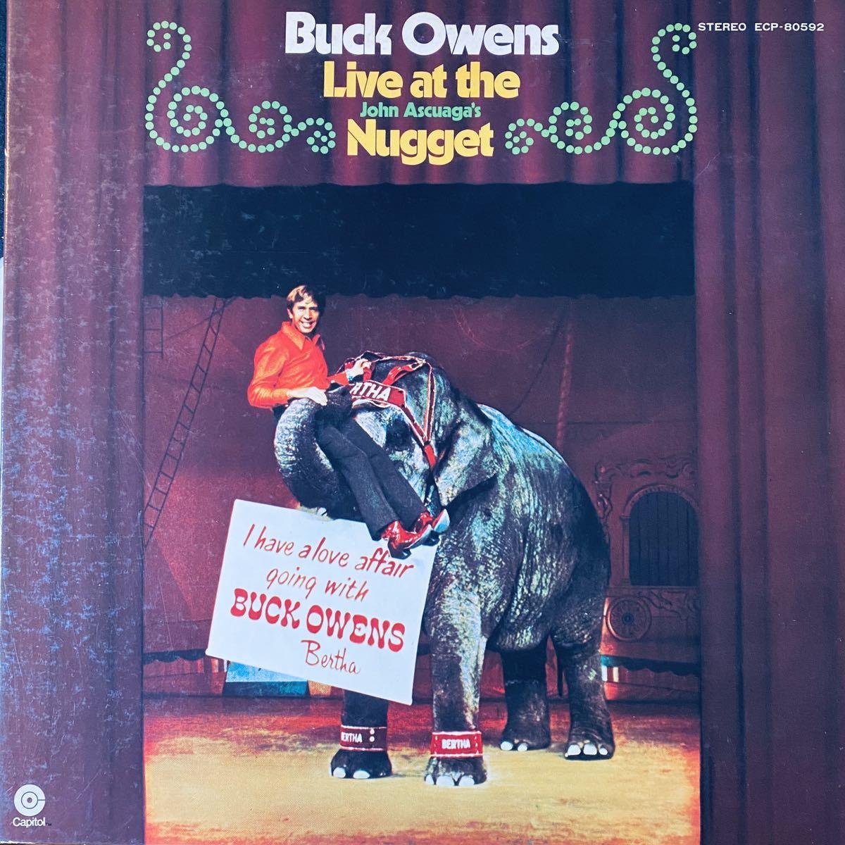 国内見本盤白ラベルLP / バック・オウエンズ・ライヴ・アット・ザ・ナゲット Buck Owens / プロモ サンプル 非売品 '72 ECP-80592_画像1