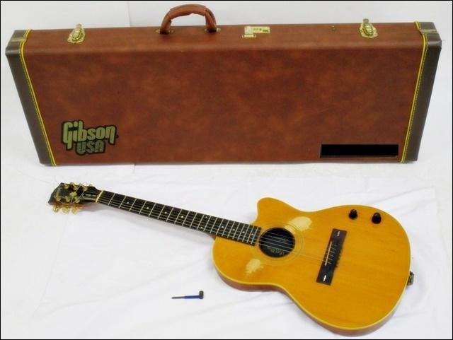 16 14-281114-20 [S] Gibson ギブソン CHET ATKINS エレアコ ギター USA 91721341 ハードケース付き 弦楽器 福14