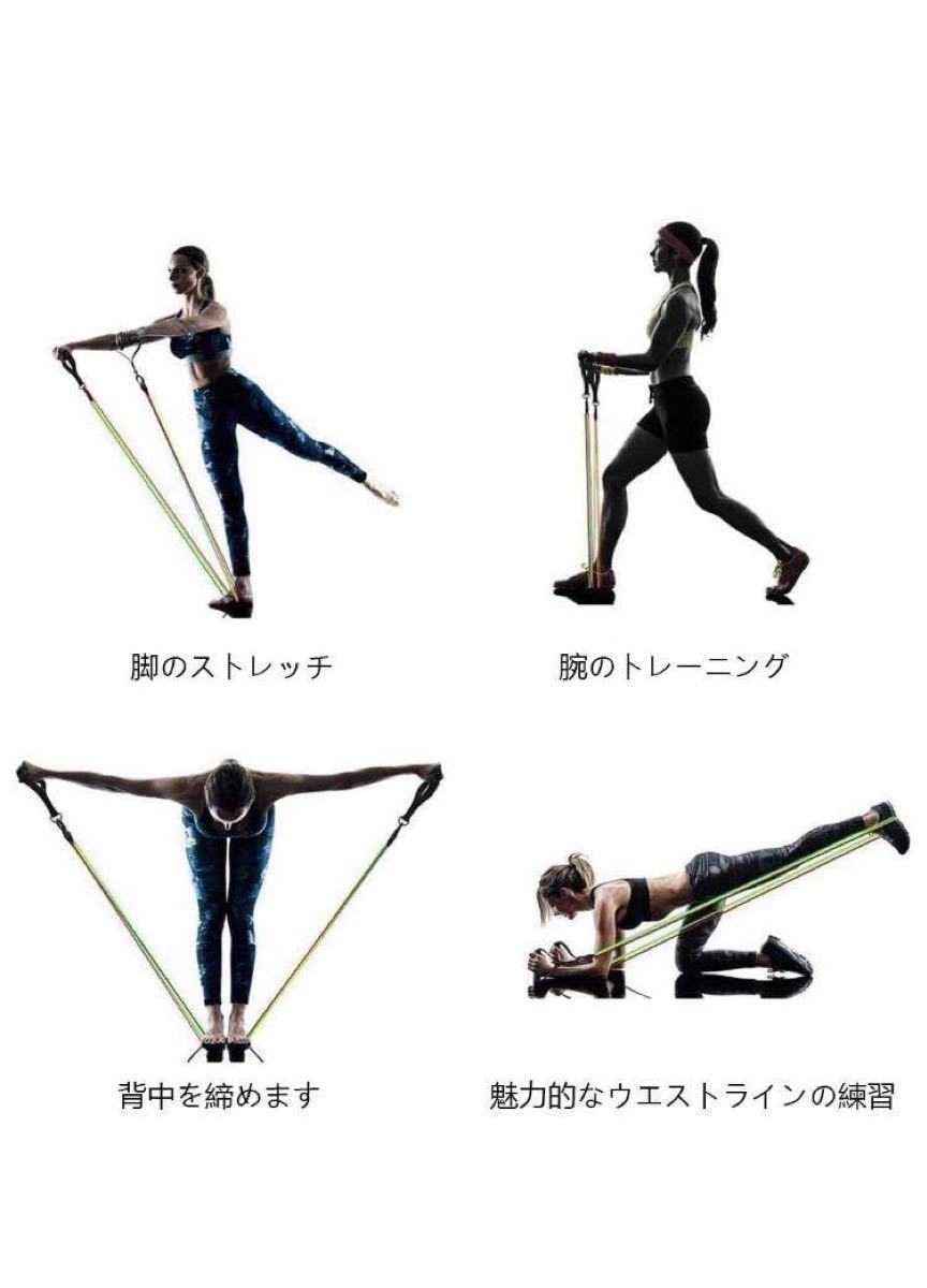 トレーニングチューブ フィットネスチューブ5つの異なるトレーニングチューブがあり
