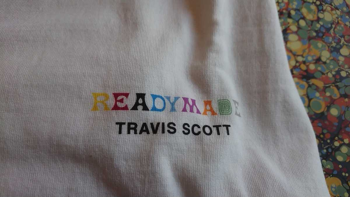 正規 本物 M コラボ READY MADE Travis Scott 3パック Tee バラ売り READYMADE レディメイド トラビス トラヴィス Tシャツ T-shirt _画像3