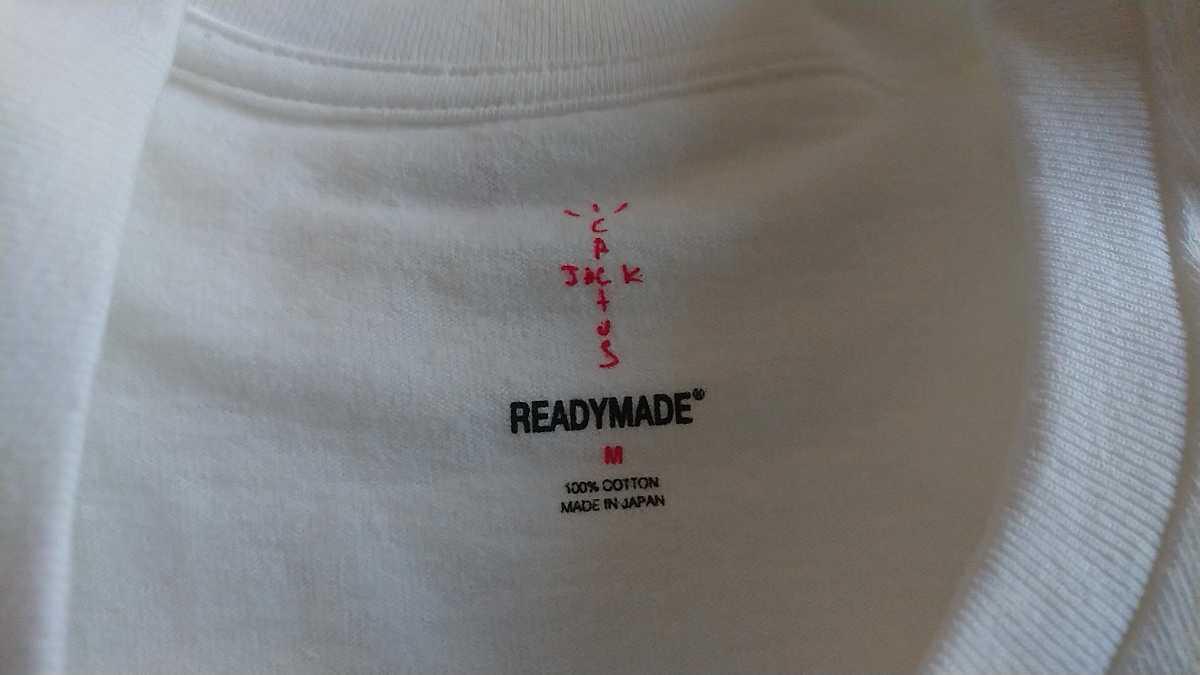 正規 本物 M コラボ READY MADE Travis Scott 3パック Tee バラ売り READYMADE レディメイド トラビス トラヴィス Tシャツ T-shirt _画像4