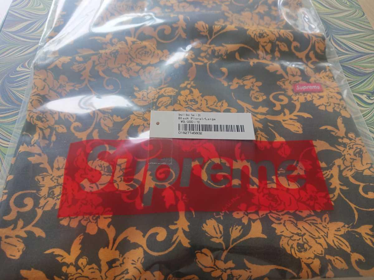 国内購入 L LARGE 本物 Supreme SMALL BOX LOGO Tee FLORAL Tシャツ T-shirt 花柄 フローラル スモールボックス_画像1
