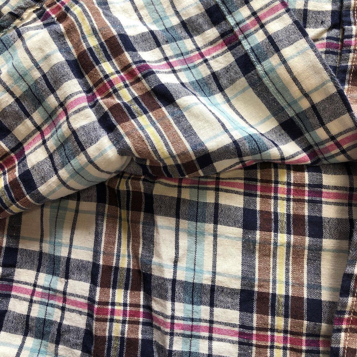 チェックシャツ チェック柄 長袖シャツL レディース