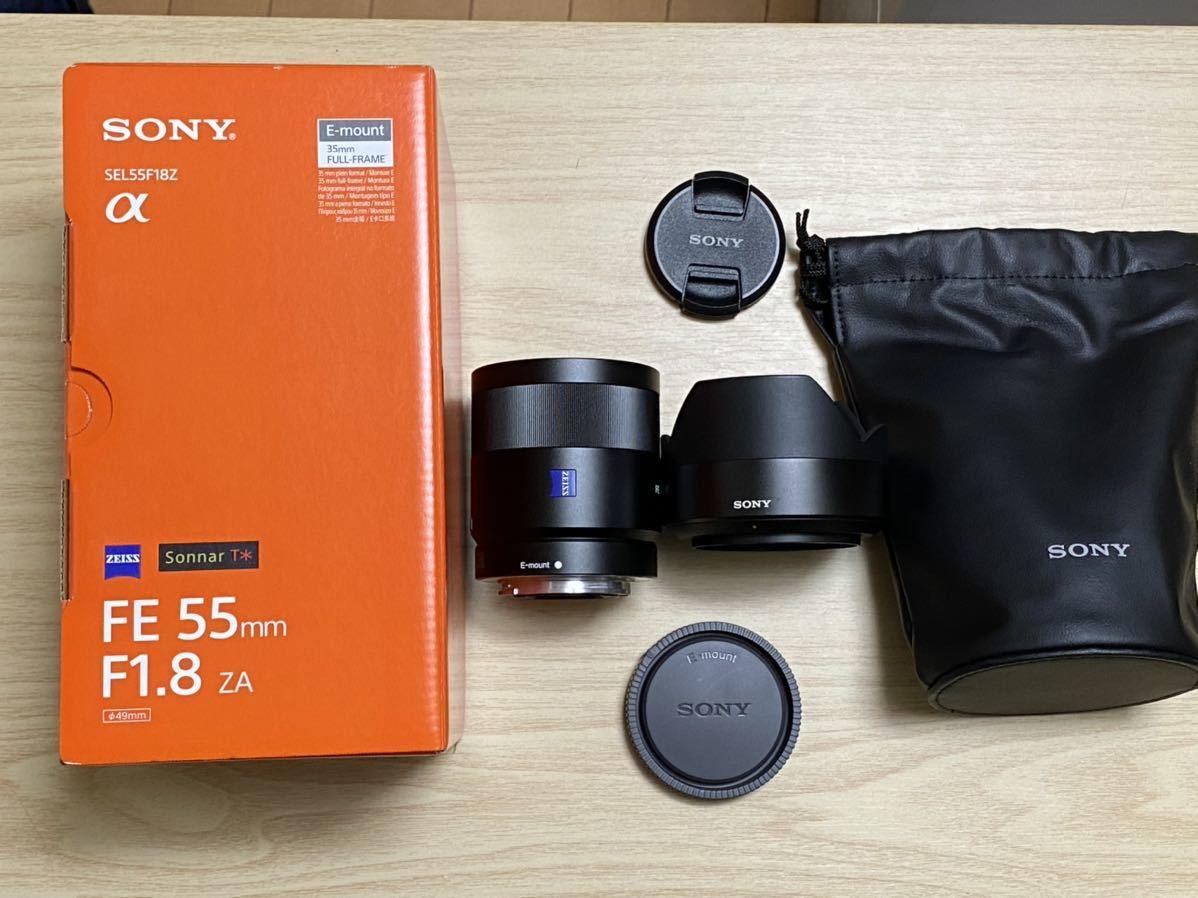 ★ソニー SEL55F18Z 55mm α フルサイズ単焦点レンズ Sonnar T* FE 55mm F1.8 ZA 新品同様★保証つき★送料無料★