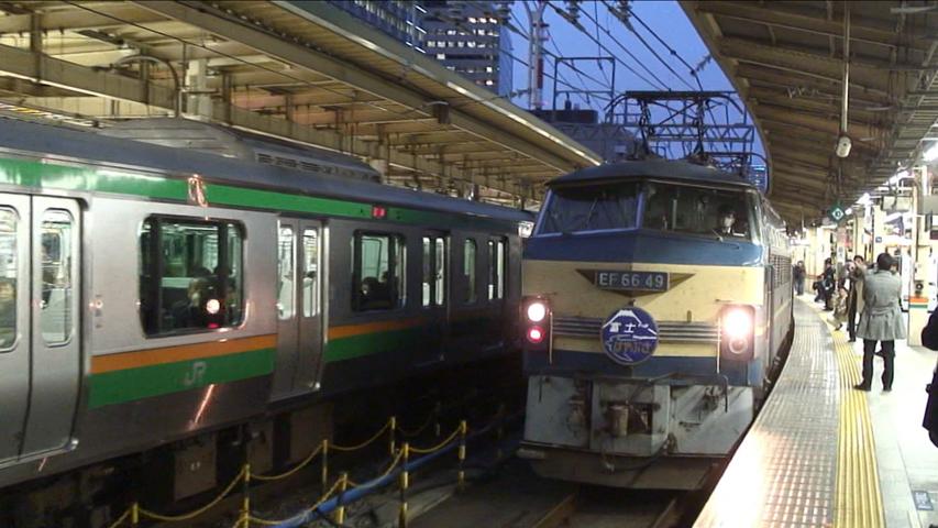寝台特急「はやぶさ」車窓 東京→熊本 (字幕無/有BD-R DL3枚組)_機回し中