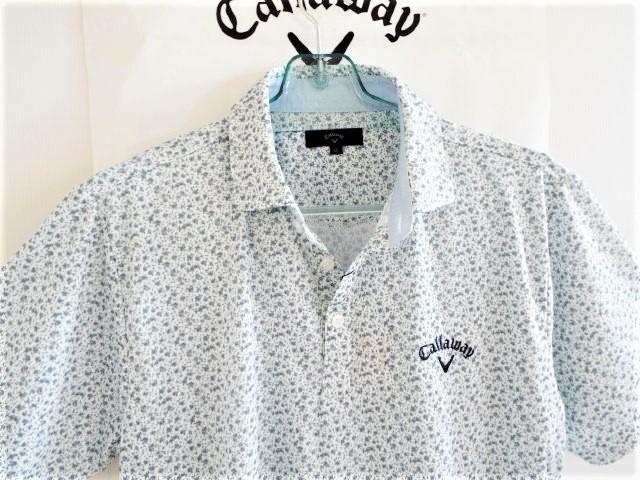 ◎新品◎Callaway キャロウェイ / フラワー総柄 プリントマルチカラー プルオーバーシャツ DRY?UPF / サイズLL