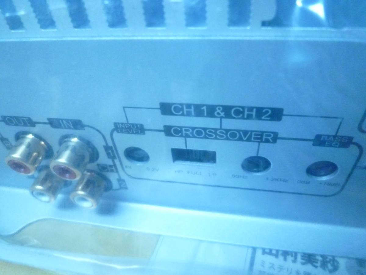 定価89千円 デジアンや中古に興味のない方にオススメ! 新品未使用品 CRUNCH USA クランチ 4/3/2chパワーアンプ 800W RCA1系統4ch可 保証有5_画像8