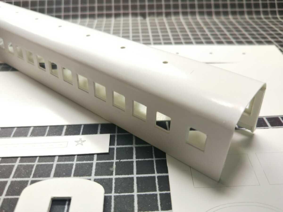 1/150 Nゲージ ペーパーボディキット半組立品(80%組立済) 国鉄客車スロ50 (床板無し)_画像3