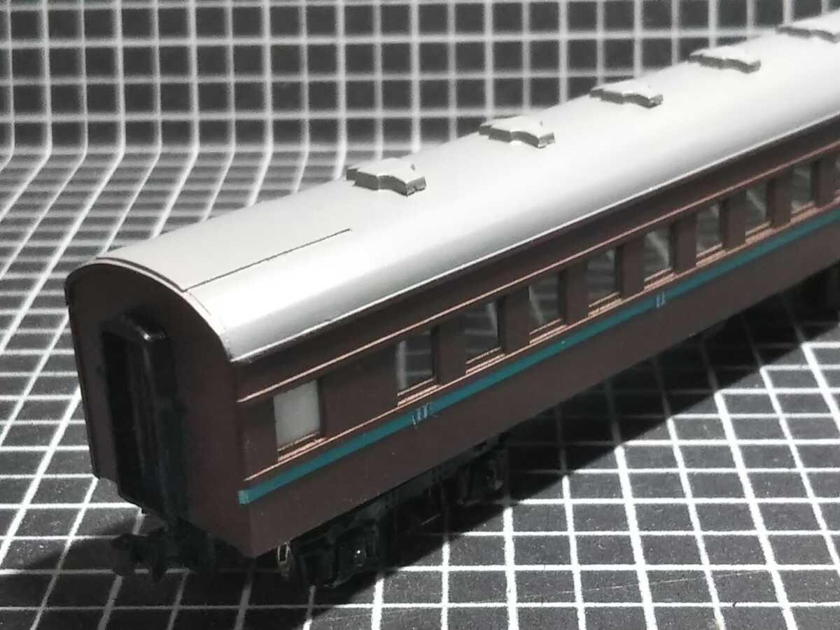 1/150 Nゲージ ペーパーボディキット半組立品(80%組立済) 国鉄客車スロ50 (床板無し)_画像8
