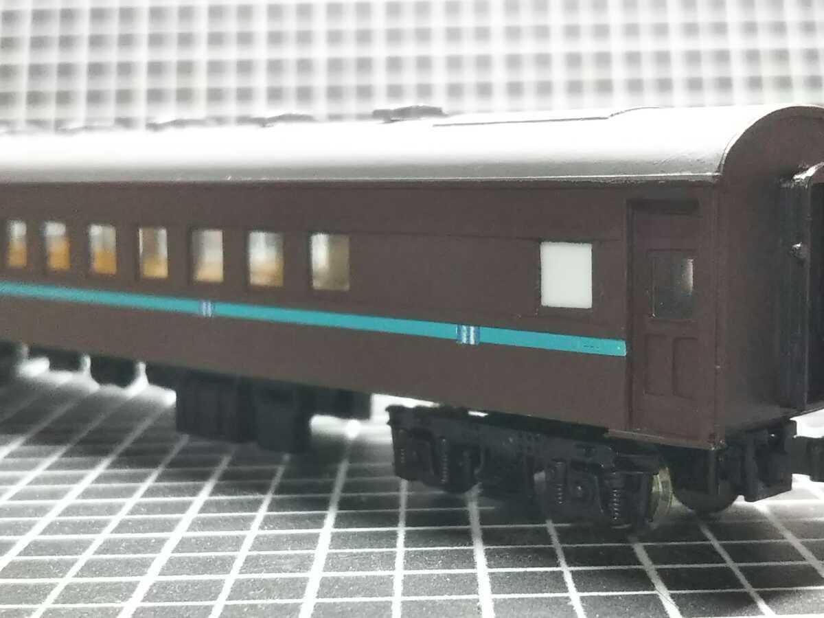 1/150 Nゲージ ペーパーボディキット半組立品(80%組立済) 国鉄客車スロ50 (床板無し)_画像9