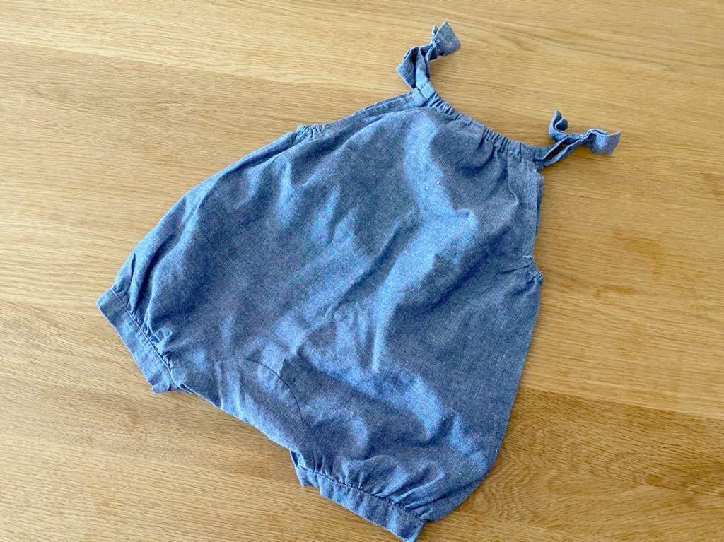 *ベビー 80 ロンパース オールインワン つなぎ ハーフパンツ ショートパンツ ブルー*_画像5