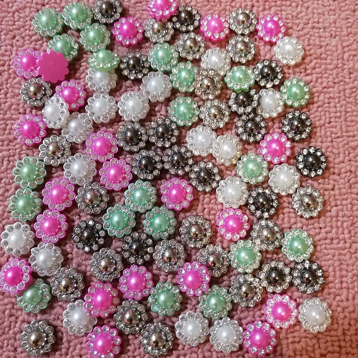 ハンドメイド 材料 部品 プラパーツパール 真珠 花 花台   手作り フラワー