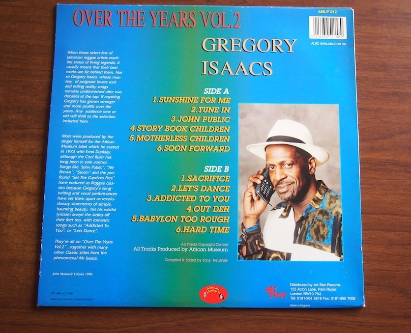 【LP】Gregory Isaacs / Over The Years Vol 2_画像3