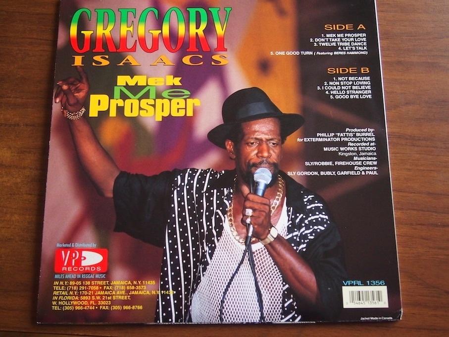 【LP】Gregory Isaacs / Mek Me Prosper_画像3
