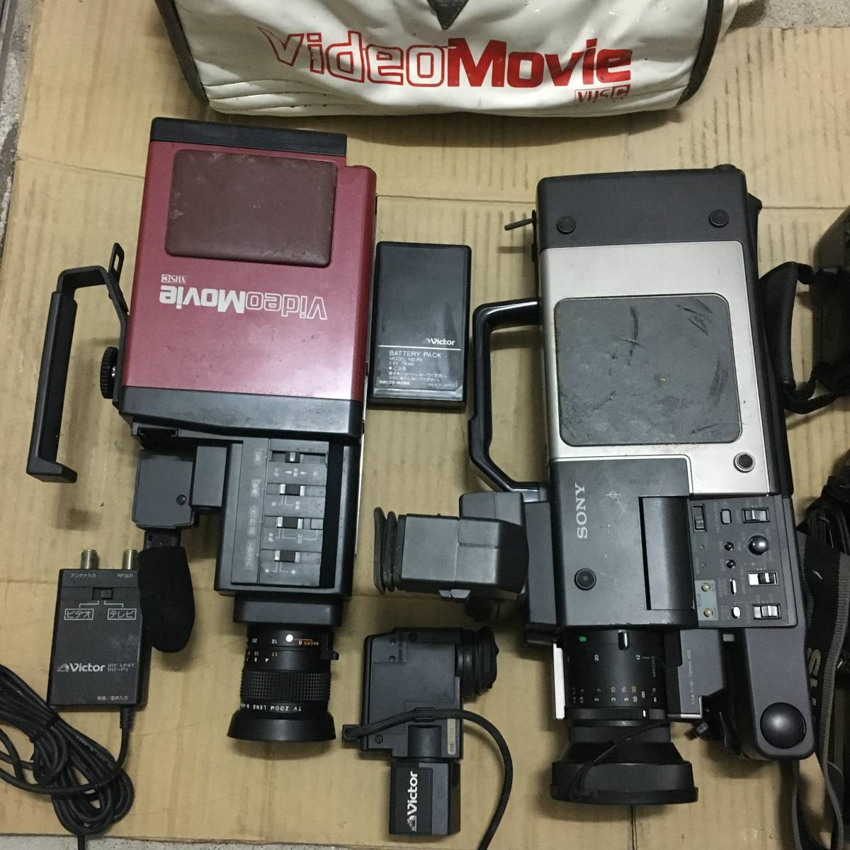 ビデオカメラ(41) 機種色々 Victor(VideoMovie) SONY(Video8,Handycam 3台) SHARP(Viewcam 2台)など まとめて 7台 部品取り ジャンク品_画像5
