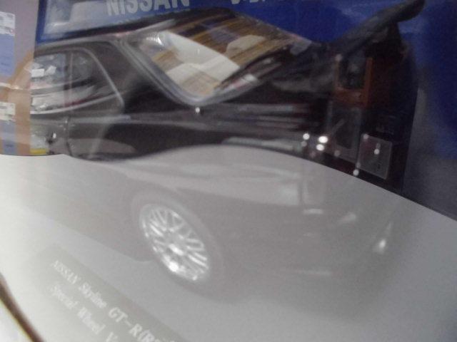 オートアート 1/18 日産 スカイライン GT-R R34 V-スペックⅡ ブラック ホイール カスタム品 _画像4