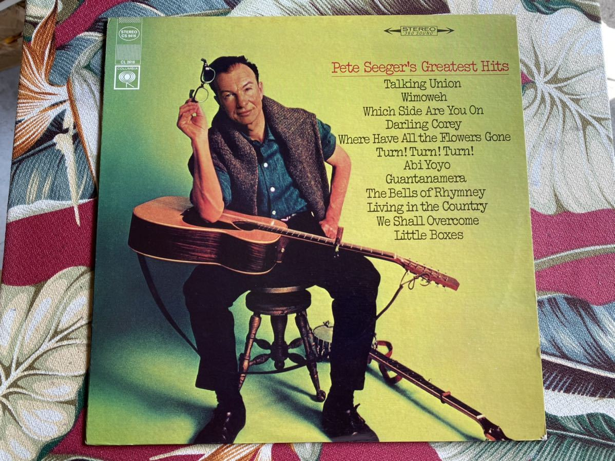 PETE SEEGER LP GREATEST HITS ピートシーガー_画像1