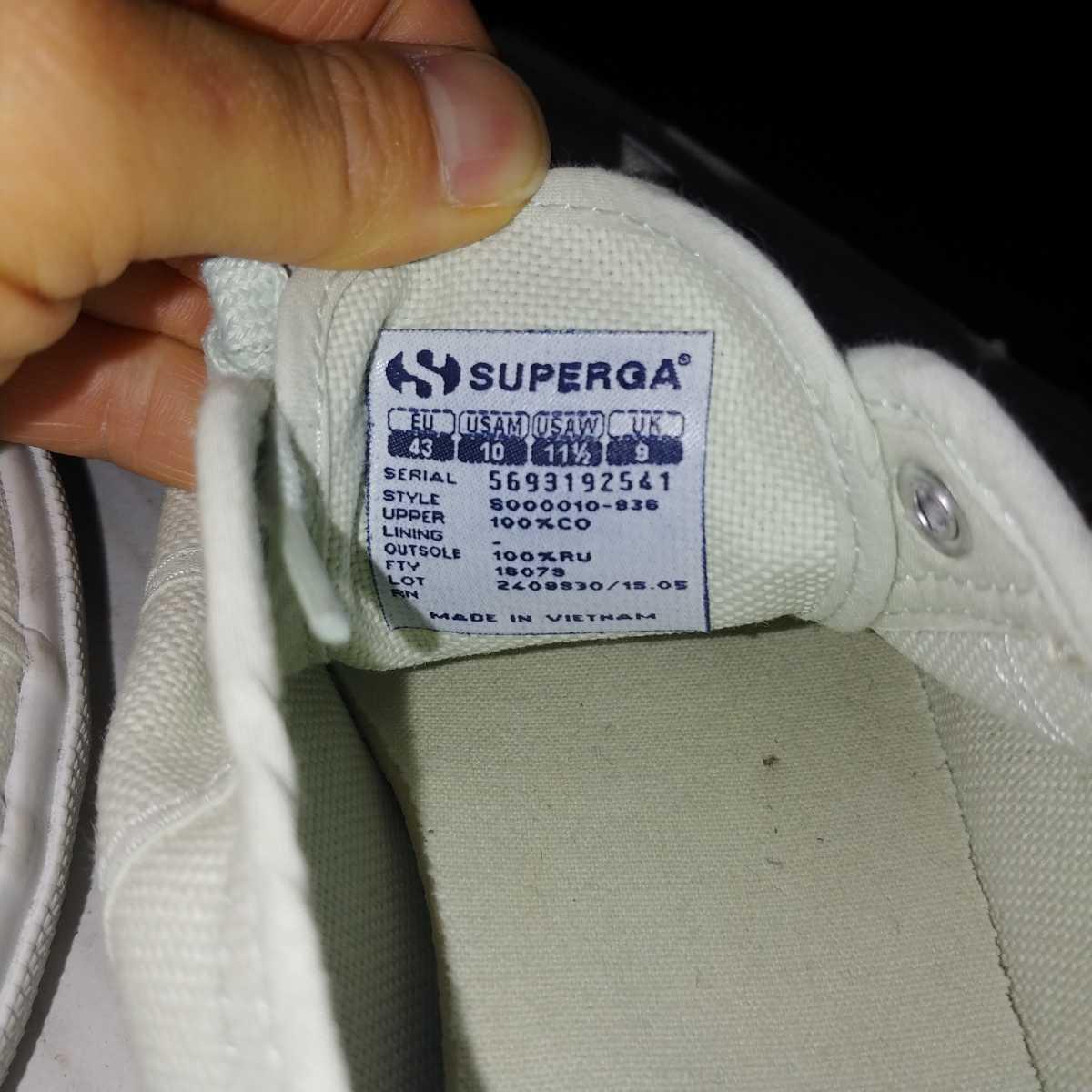 SUPERGA スペルガ キャンバス スニーカー size 43 28cm_画像5