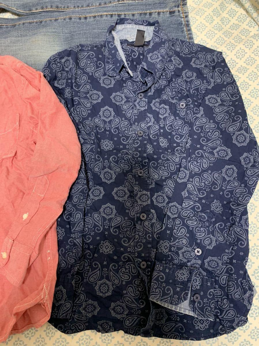 ☆送料込み GAPシャツM8 130センチ 3枚 ジーンズM10 140センチ セット販売です_画像2