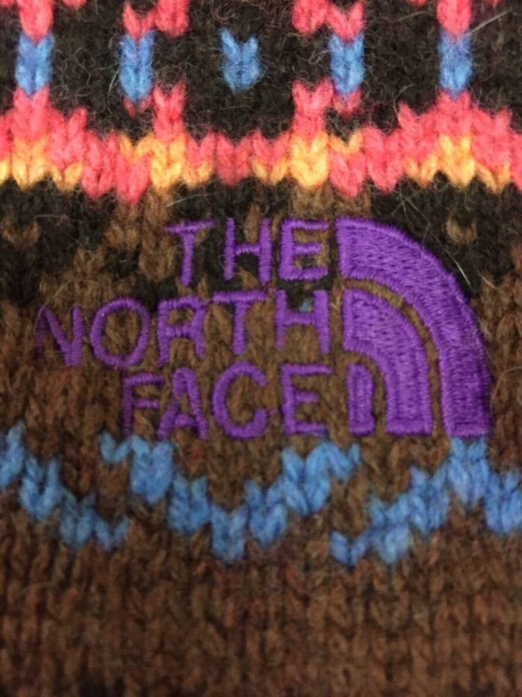 ザノースフェイス THE NORTH FACE パープルレーベル ウール 切替ベスト ネイティブ柄 グレー レディース XSサイズ ~▼&