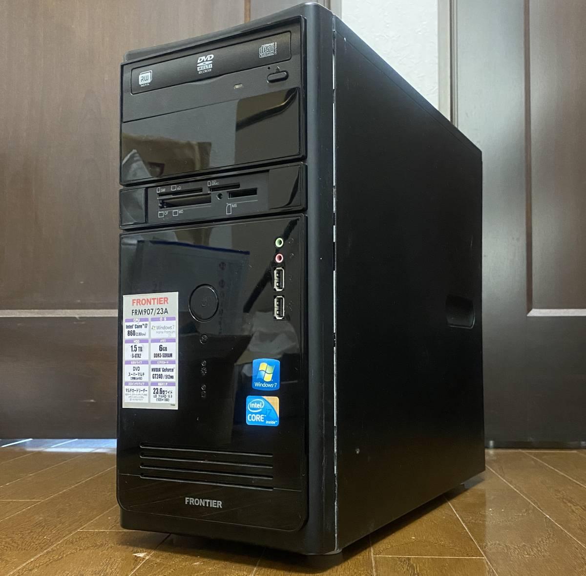 ★超高速 i7/新品SSD240GB+HDD2台/メモリ10GB/無線LAN(Wi-Fi)/NVIDIAグラボ/Win10/Office2019/領収証可★Frontier FRM907/23A改★_画像3