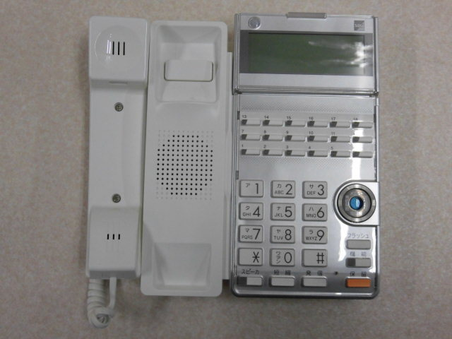 Ω ZR2 8342#保証有 TD615(W) サクサ SAXA AGREA 18ボタン電話機 13年製 中古ビジネスホン 領収書発行可・祝10000取引突破!!_画像2