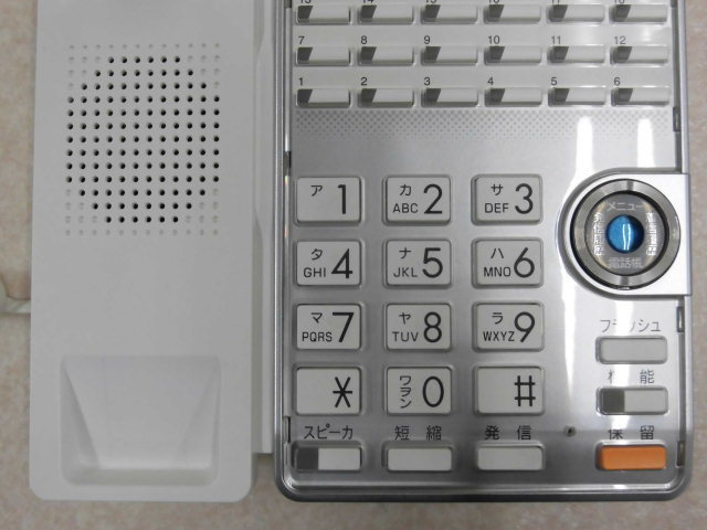 Ω ZR2 8342#保証有 TD615(W) サクサ SAXA AGREA 18ボタン電話機 13年製 中古ビジネスホン 領収書発行可・祝10000取引突破!!_画像4