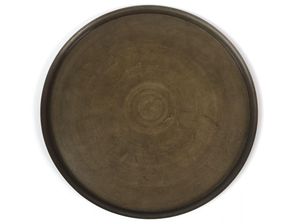 【在庫処分】古銅 砂張盆 佐波理盤 本物保証 経年の擦れはありますが無傷です 直しもありません 時代共箱付き
