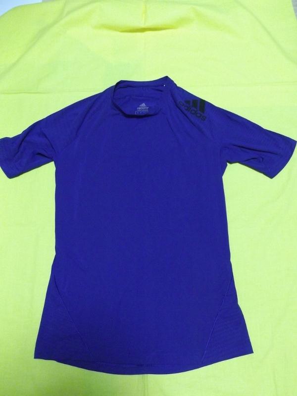 ★美品 アディダス adidas コンプレッション TECHFIT シャツ 長袖 ブルー CD7138 テックフィット