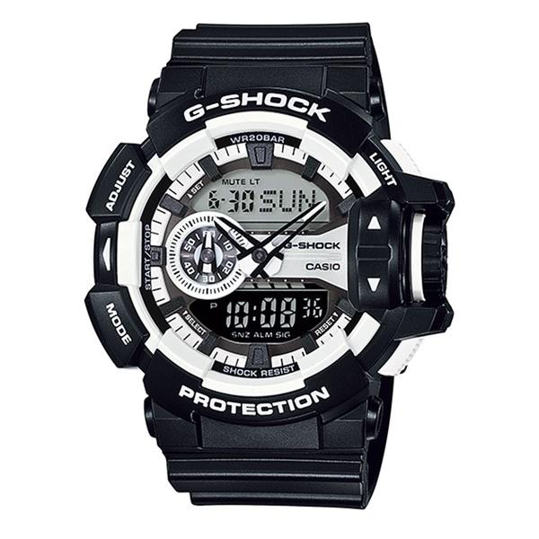 【海外モデル】カシオ G-SHOCK Gショック メンズ 腕時計 ハイパーカラーズ ブラック 大きいケース アナログデジタル 多機能 黒 GA-400-1A_カシオ Gショック 時計 ブラック