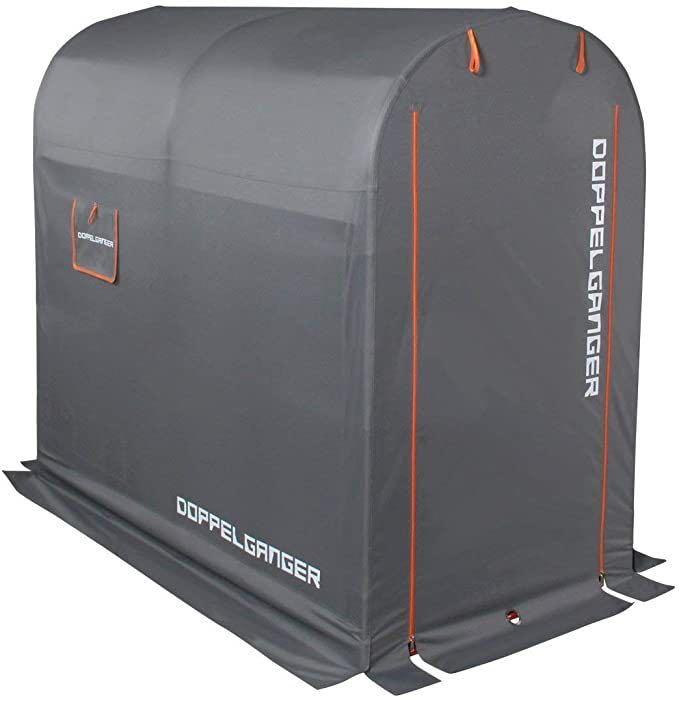 新品★送料無料★ドッペルギャンガー(DOPPELGANGER) ストレージバイクガレージ DCC330M-GY Mサイズ バイク 自転車 の保管 収納 車庫_画像1