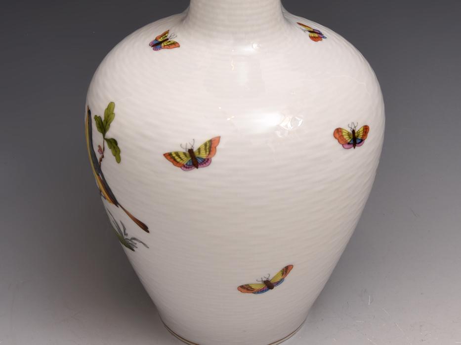 HEREND/ヘレンド ロスチャイルドバード 金彩 高さ:27㎝ 花瓶 花器 花生 花入れ フラワーベース 西洋美術 美品  b8016s_画像8