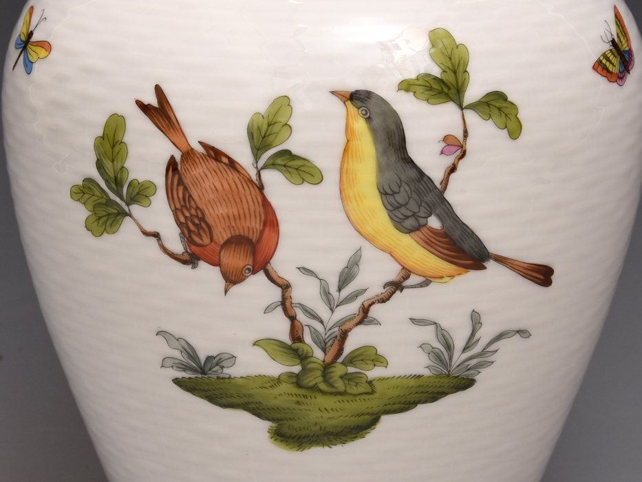 HEREND/ヘレンド ロスチャイルドバード 金彩 高さ:27㎝ 花瓶 花器 花生 花入れ フラワーベース 西洋美術 美品  b8016s_画像5