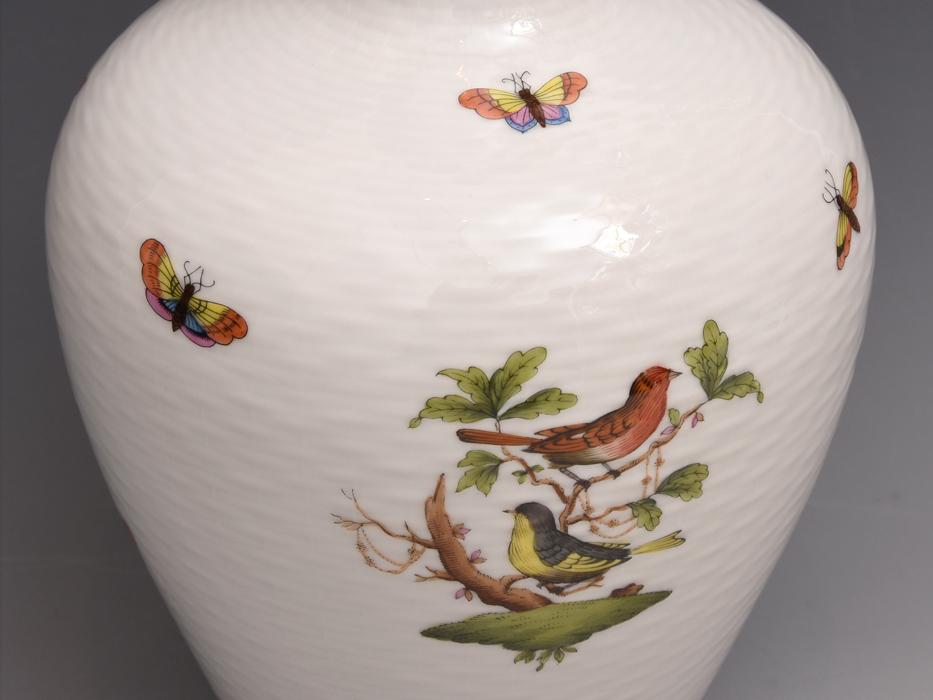 HEREND/ヘレンド ロスチャイルドバード 金彩 高さ:27㎝ 花瓶 花器 花生 花入れ フラワーベース 西洋美術 美品  b8016s_画像7